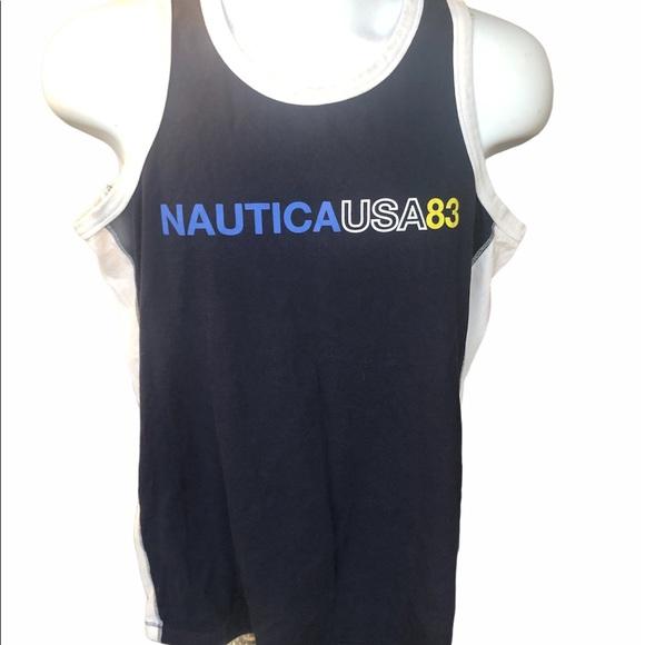 Nautica Classic Fit Color block tank top